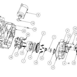 HON02 - CR500 Electric starter parts list