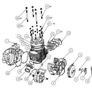 HON03 - Panthera CR625 parts list