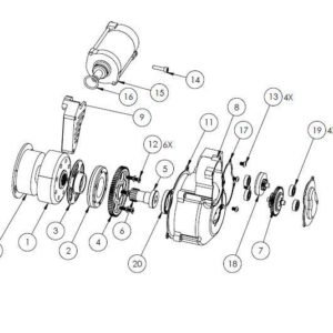 KAW01 - KX500 Electric starter parts list