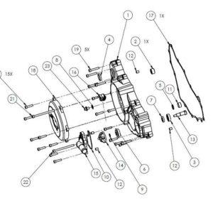 PM07-18 - Clutch case assembly