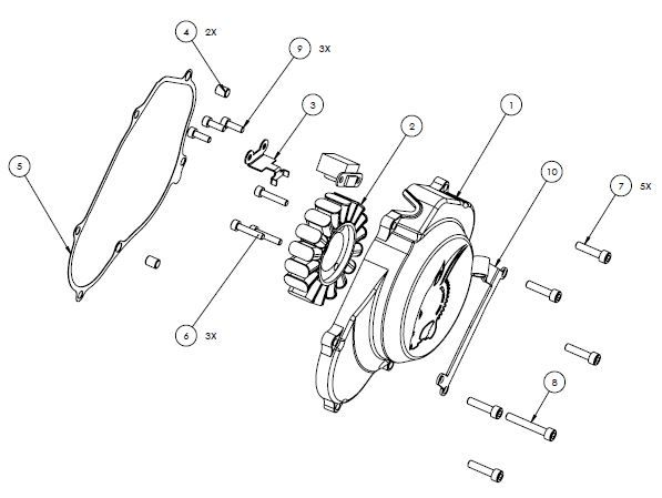 PM07-18 - Flywheel cover assembly