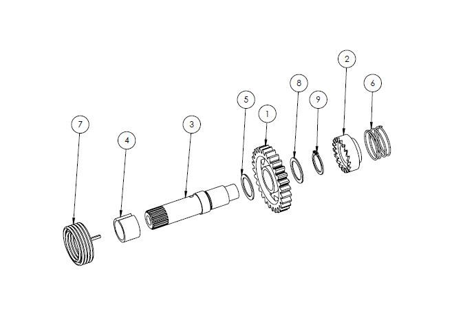 PM07-18 - Kick spindle assembly