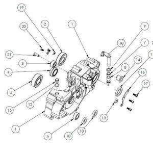 PM07-18 - Left case assembly