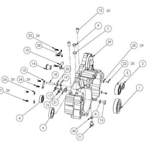 PM07-18 - Right case assembly