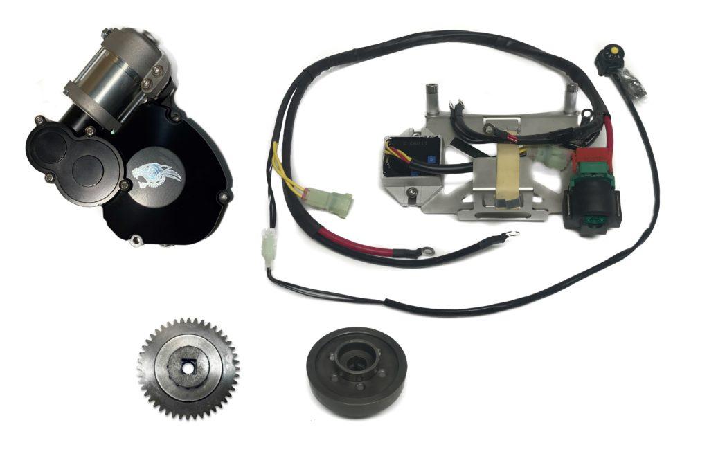 YZ125 electric start assembly 1