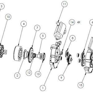 YZ250 - YZ250X Electric starter parts list