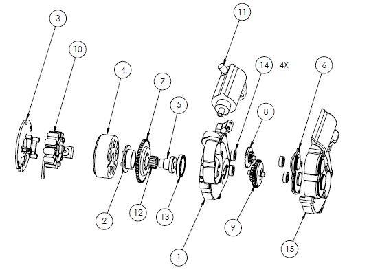 YZ250 -YZ250X Electric starter parts list