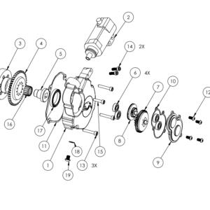 YZ125 – YZ125X Electric starter parts list